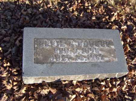 BARKER, EFFIE P. - Washington County, Arkansas | EFFIE P. BARKER - Arkansas Gravestone Photos