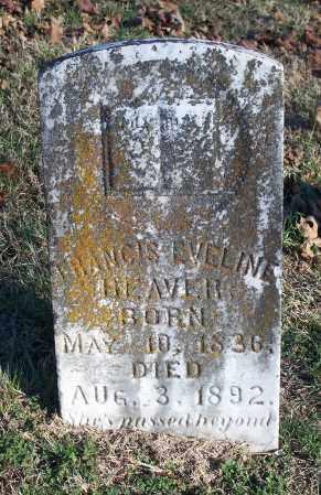 BEAVER, FRANCIS EVELINE - Washington County, Arkansas | FRANCIS EVELINE BEAVER - Arkansas Gravestone Photos