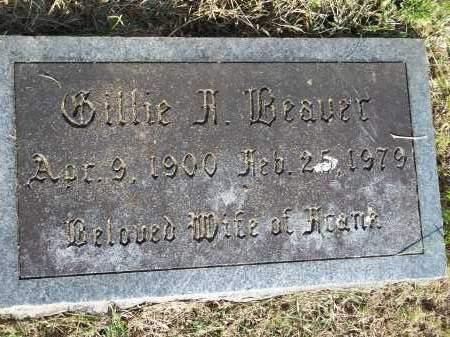 BEAVER, GILLIE A. - Washington County, Arkansas | GILLIE A. BEAVER - Arkansas Gravestone Photos