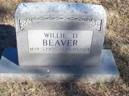 BEAVER, WILLIE D. - Washington County, Arkansas | WILLIE D. BEAVER - Arkansas Gravestone Photos