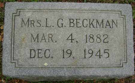 BECKMAN, LILLIAN G. - Washington County, Arkansas | LILLIAN G. BECKMAN - Arkansas Gravestone Photos