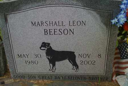 BEESON, MARSHALL LEON - Washington County, Arkansas | MARSHALL LEON BEESON - Arkansas Gravestone Photos