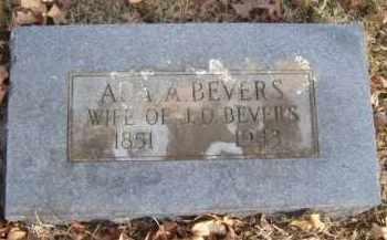 BEVERS, ADA A. - Washington County, Arkansas   ADA A. BEVERS - Arkansas Gravestone Photos