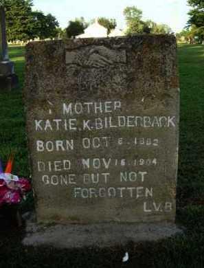BILDERBACK, KATIE K. - Washington County, Arkansas   KATIE K. BILDERBACK - Arkansas Gravestone Photos