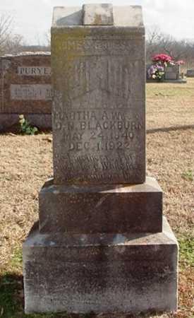 BLACKBURN, MARTHA A. - Washington County, Arkansas | MARTHA A. BLACKBURN - Arkansas Gravestone Photos