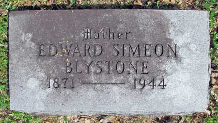 BLYSTONE, EDWARD SIMEON - Washington County, Arkansas | EDWARD SIMEON BLYSTONE - Arkansas Gravestone Photos
