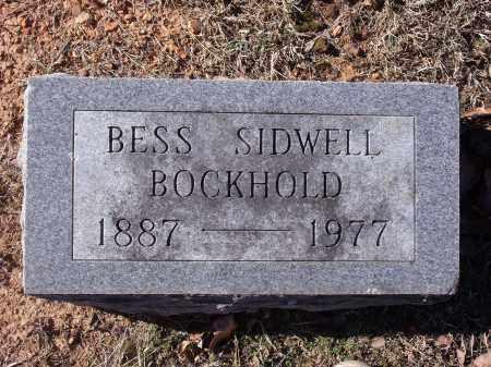 SIDWELL BOCKHOLD, BESS - Washington County, Arkansas | BESS SIDWELL BOCKHOLD - Arkansas Gravestone Photos
