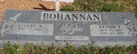 BOHANNAN, EFTON T. - Washington County, Arkansas | EFTON T. BOHANNAN - Arkansas Gravestone Photos