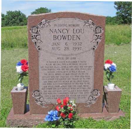BOWDEN, NANCY LOU - Washington County, Arkansas | NANCY LOU BOWDEN - Arkansas Gravestone Photos