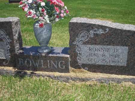 BOWLING, RONNIE D. - Washington County, Arkansas | RONNIE D. BOWLING - Arkansas Gravestone Photos