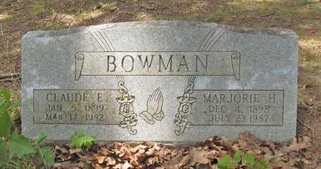 BOWMAN, CLAUDE EDWIN - Washington County, Arkansas | CLAUDE EDWIN BOWMAN - Arkansas Gravestone Photos