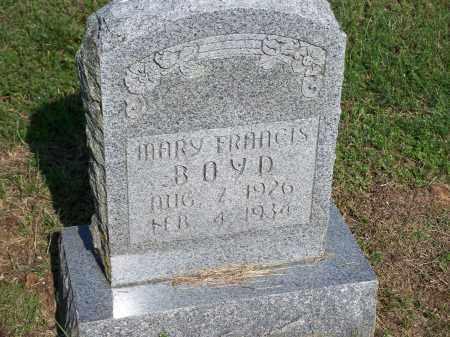 BOYD, MARY FRANCIS - Washington County, Arkansas | MARY FRANCIS BOYD - Arkansas Gravestone Photos