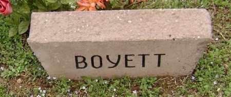 BOYETT, UNKNOWN - Washington County, Arkansas | UNKNOWN BOYETT - Arkansas Gravestone Photos