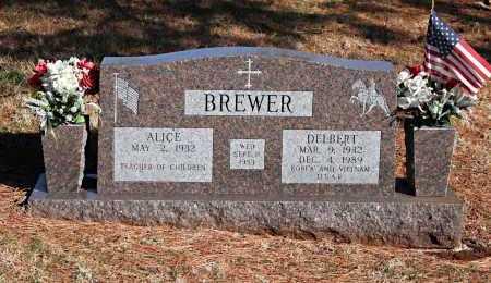 BREWER (VETERAN 2 WARS), DELBERT - Washington County, Arkansas | DELBERT BREWER (VETERAN 2 WARS) - Arkansas Gravestone Photos