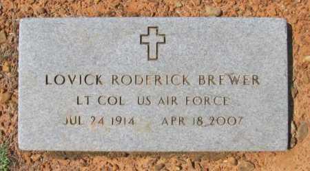 BREWER (VETERAN), LOVICK RODERICK - Washington County, Arkansas | LOVICK RODERICK BREWER (VETERAN) - Arkansas Gravestone Photos