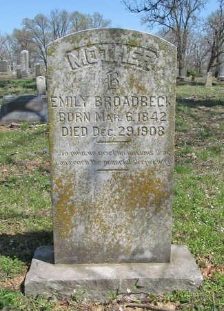 BROADBECK, EMILY - Washington County, Arkansas | EMILY BROADBECK - Arkansas Gravestone Photos