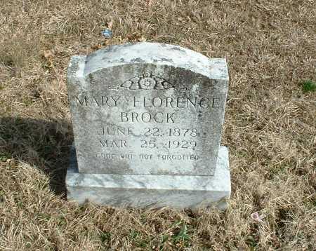 BROCK, MARY FLORENCE - Washington County, Arkansas | MARY FLORENCE BROCK - Arkansas Gravestone Photos
