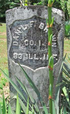 BROWN  (VETERAN UNION), DANIEL F - Washington County, Arkansas | DANIEL F BROWN  (VETERAN UNION) - Arkansas Gravestone Photos