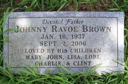 BROWN, JOHNNY RAVOE - Washington County, Arkansas | JOHNNY RAVOE BROWN - Arkansas Gravestone Photos