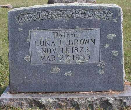 BROWN, LUNA L. - Washington County, Arkansas | LUNA L. BROWN - Arkansas Gravestone Photos
