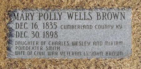 BROWN, MARY POLLY - Washington County, Arkansas | MARY POLLY BROWN - Arkansas Gravestone Photos
