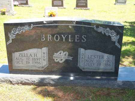 BROYLES, ZELLA H. - Washington County, Arkansas   ZELLA H. BROYLES - Arkansas Gravestone Photos