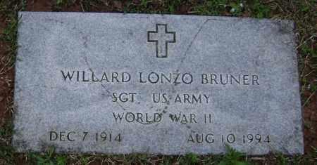 BRUNER (VETERAN WWII), WILLARD LONZO - Washington County, Arkansas   WILLARD LONZO BRUNER (VETERAN WWII) - Arkansas Gravestone Photos