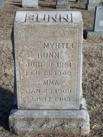 BUNN, MYRTLE - Washington County, Arkansas | MYRTLE BUNN - Arkansas Gravestone Photos
