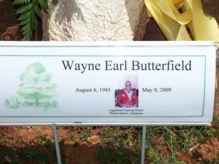 BUTTERFIELD, WAYNE EARL - Washington County, Arkansas | WAYNE EARL BUTTERFIELD - Arkansas Gravestone Photos