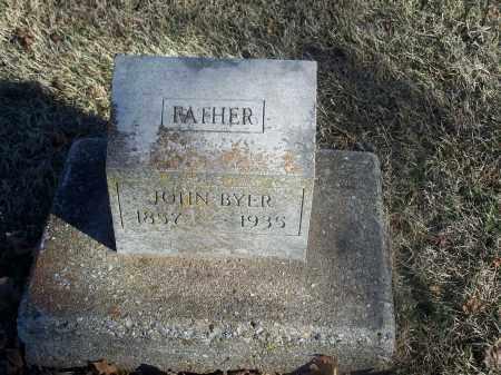 BYER, JOHN - Washington County, Arkansas | JOHN BYER - Arkansas Gravestone Photos