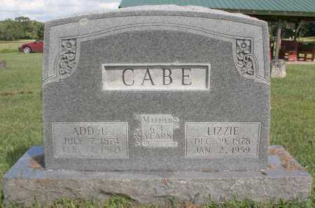 "CABE, MARY ELIZABETH ""LIZZIE"" - Washington County, Arkansas 