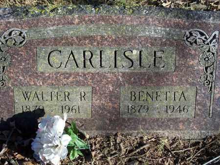 CARLISLE, WALTER R. - Washington County, Arkansas   WALTER R. CARLISLE - Arkansas Gravestone Photos