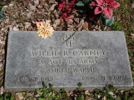 CARNEY  (VETERAN WWII), WILLIE R. - Washington County, Arkansas | WILLIE R. CARNEY  (VETERAN WWII) - Arkansas Gravestone Photos
