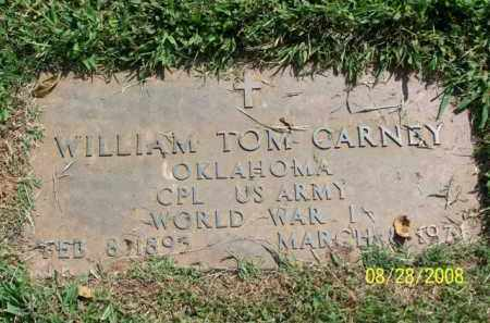 CARNEY (VETERAN WWI), WILLIAM TOM - Washington County, Arkansas | WILLIAM TOM CARNEY (VETERAN WWI) - Arkansas Gravestone Photos