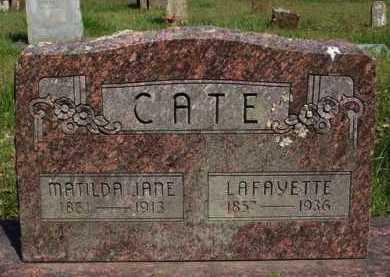 CATE, MATILDA JANE - Washington County, Arkansas | MATILDA JANE CATE - Arkansas Gravestone Photos