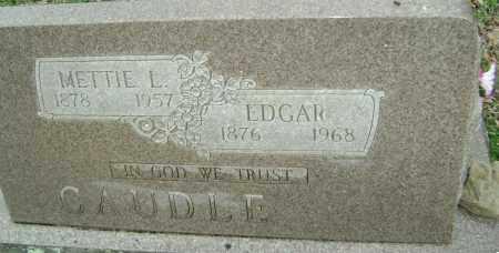 CAUDLE  (VETERAN WWI), THOMAS EDGAR - Washington County, Arkansas | THOMAS EDGAR CAUDLE  (VETERAN WWI) - Arkansas Gravestone Photos