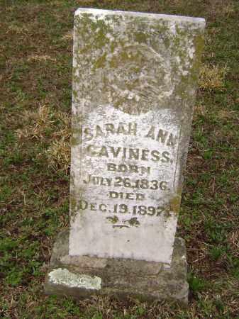 CAVINESS, SARAH ANN - Washington County, Arkansas   SARAH ANN CAVINESS - Arkansas Gravestone Photos