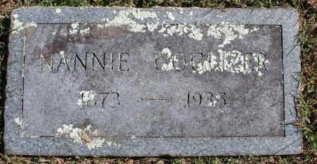 COGLIZER, NANNIE - Washington County, Arkansas | NANNIE COGLIZER - Arkansas Gravestone Photos