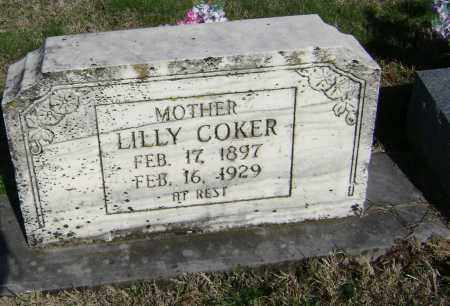 COKER, LILLY - Washington County, Arkansas | LILLY COKER - Arkansas Gravestone Photos