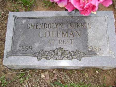COLEMAN, GWENDOLYN BUNNIE - Washington County, Arkansas   GWENDOLYN BUNNIE COLEMAN - Arkansas Gravestone Photos
