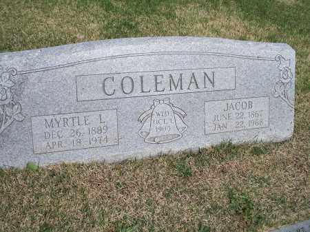 COLEMAN, MYRTLE L. - Washington County, Arkansas | MYRTLE L. COLEMAN - Arkansas Gravestone Photos