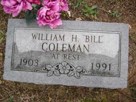"COLEMAN, WILLIAM H. ""BILL"" - Washington County, Arkansas | WILLIAM H. ""BILL"" COLEMAN - Arkansas Gravestone Photos"