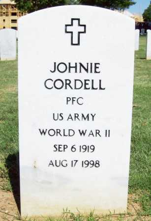 CORDELL (VETERAN WWII), JOHNIE - Washington County, Arkansas | JOHNIE CORDELL (VETERAN WWII) - Arkansas Gravestone Photos