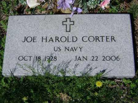 CORTER  (VETERAN), JOE HAROLD - Washington County, Arkansas | JOE HAROLD CORTER  (VETERAN) - Arkansas Gravestone Photos