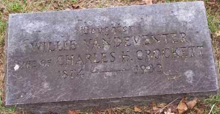 CROCKETT, WILLIE - Washington County, Arkansas | WILLIE CROCKETT - Arkansas Gravestone Photos