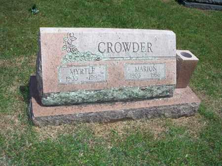 CROWDER, MYRTLE - Washington County, Arkansas | MYRTLE CROWDER - Arkansas Gravestone Photos