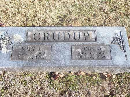 CRUDUP, MARY E. - Washington County, Arkansas   MARY E. CRUDUP - Arkansas Gravestone Photos