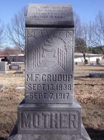 CRUDUP, M.F. - Washington County, Arkansas | M.F. CRUDUP - Arkansas Gravestone Photos