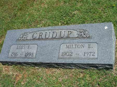 CRUDUP, MILTON E. - Washington County, Arkansas | MILTON E. CRUDUP - Arkansas Gravestone Photos