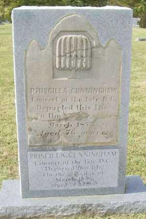 CUNNINGHAM, PRISCILLA - Washington County, Arkansas | PRISCILLA CUNNINGHAM - Arkansas Gravestone Photos